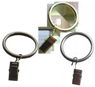 Кольца круглые с зажимом